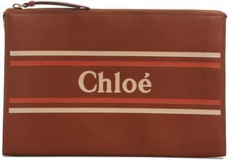Chloé Vick Leather Zip Pouch