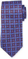 Neiman Marcus Italian-Made Geometric Silk Tie, Royal
