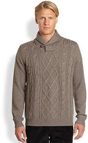 Saks Fifth Avenue Collection Cable-Knit Wool Sweater