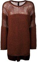 Ilaria Nistri crew neck long pullover - women - Silk/Polyamide/Mohair/Virgin Wool - S