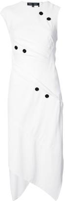 Proenza Schouler Spiral dress with button details