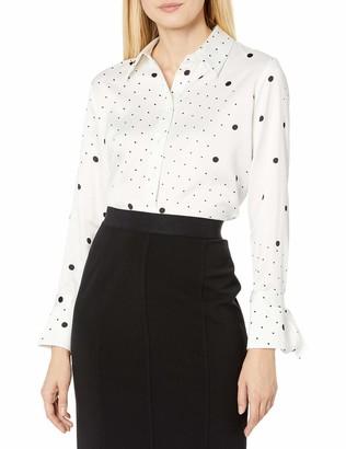 Tahari ASL Women's Plus Size Long Sleeve Button Front Blouse