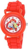Disney Girl's 'Ariel' Quartz Plastic and Silicone Casual Watch, Color: (Model: WDS000145)
