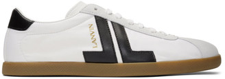 Lanvin White Dual-Material JL Sneakers