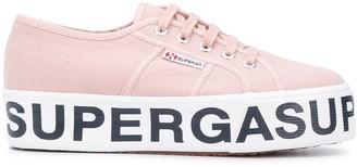 Superga Logo-Print Platform-Sole Sneakers