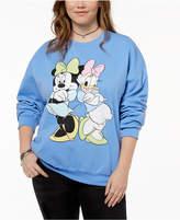 Disney Hybrid Plus Size Minnie Mouse & Daisy Duck Sweatshirt