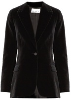 Raey Single-button velvet blazer