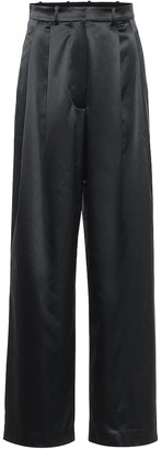 Dodo Bar Or High-rise wide-leg satin pants
