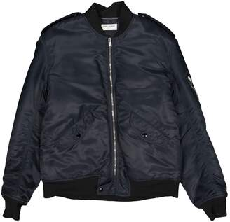 Saint Laurent Navy Synthetic Jackets