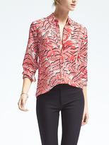 Banana Republic Dillon-Fit Palm Print Blouse