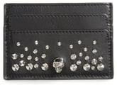 Alexander McQueen Skull & Studs Leather Card Case