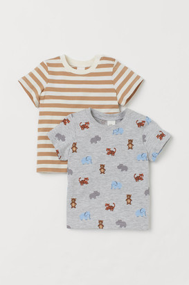 H&M 2-pack Jersey T-shirts - Gray