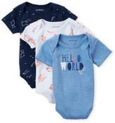 Petit Lem Newborn Boy) 3-Piece Bodysuit Set