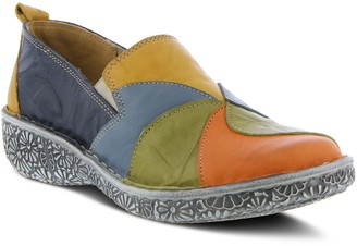 Spring Step Multi Color Leather Slip-On Loafers- Whirlie