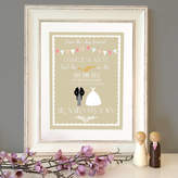 The Little Paper Company Personalised Classic Wedding Print