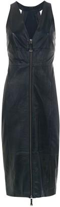 Tufi Duek leather midi dress