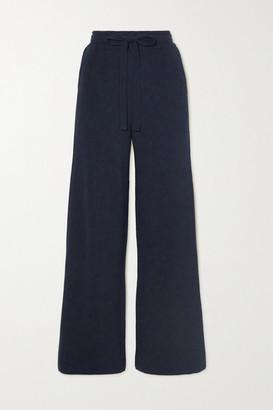 Nanushka Oni Ribbed-knit Wide-leg Pants - Navy