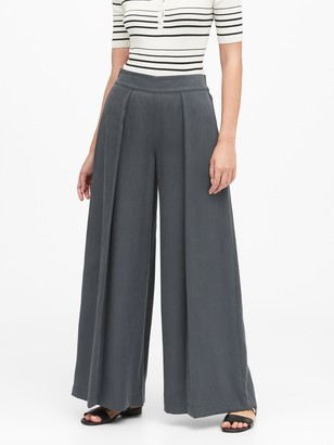 Banana Republic High-Rise Wide-Leg TENCEL Pant