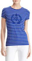 Lauren Ralph Lauren Studded Striped Jersey Tee