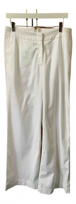 Margaret Howell White Cotton Trousers
