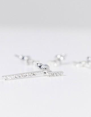 Pilgrim 2 pack crystal silver plated earrings in silver