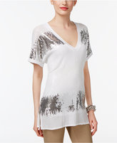 INC International Concepts Sequined T-Shirt, Only at Macy's