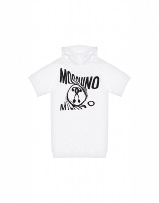 Moschino Double Question Mark Dress Woman White Size 4a It - (4y Us)