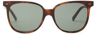Celine Oversized Square Tortoiseshell-acetate Sunglasses - Womens - Tortoiseshell