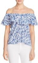 Rebecca Taylor Aimee Floral Off-the-Shoulder Top