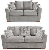 Kingston Fabric 3 Seater + 2 Seater Scatter Back Sofa Set (Buy and SAVE!)