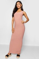 boohoo Scoop Front Jersey Maxi Dress