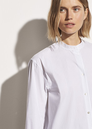 Vince Classic Stripe Band Collar Shirt