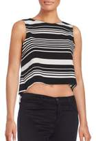 Saks Fifth Avenue RED Striped Crop Top