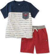 Kids Headquarters 2-Pc. Cotton Captain Cute T-Shirt & Shorts Set, Baby Boys (0-24 Months)