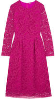 ADAM by Adam Lippes Corded Cotton-blend Lace Dress - Fuchsia