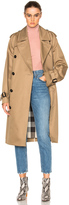 Burberry Gabardine Trench Coat in Camel