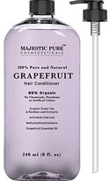 Majestic Pure Hair Conditioner for Damaged Hair, Pink Grapefruit Natural Conditioner, 85% Organic, 8 Fluid Ounce