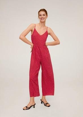 MANGO Long printed jumpsuit wine - L - Women