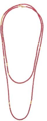 Eli Halili - Ruby & 22kt Gold Beaded Necklace - Ruby
