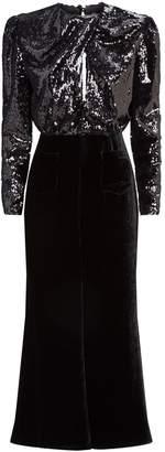 Racil Liza Sequin and Velvet Gown