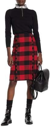Scotch & Soda High Waist Checkered Skirt