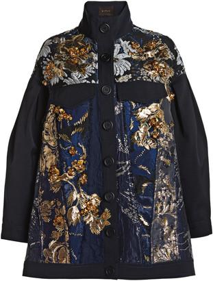 Biyan Crema Floral Print Jacket