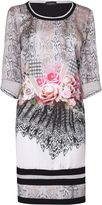 House of Fraser James Lakeland 3/4 Sleeves Mixed Print Dress