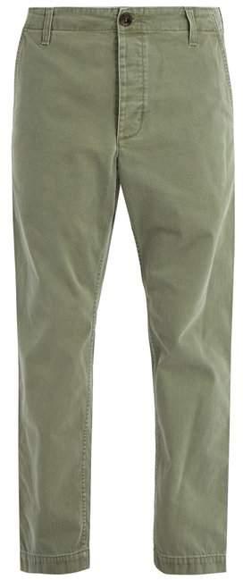 Gucci Straight Leg Cotton Chino Trousers - Mens - Khaki