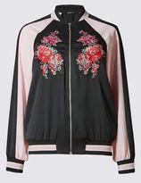 Marks and Spencer Embroidered Floral Bomber Jacket