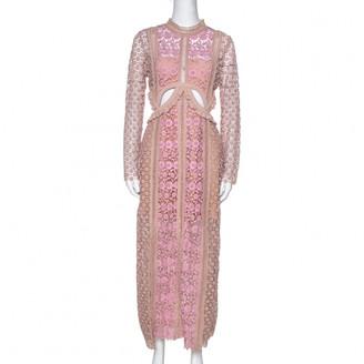 Self-Portrait Beige Silk Dresses