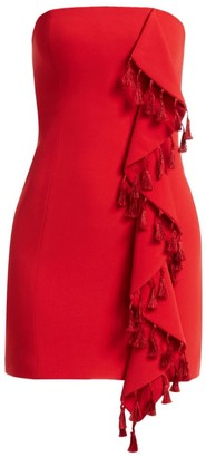 Cinq à Sept Nat Tassel & Ruffle Mini Dress
