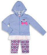 Little Lass Girls 2-6x Three Piece Hoodie Tee and Pants Set