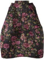 Comme des Garcons floral print skirt - women - Polyester - XS