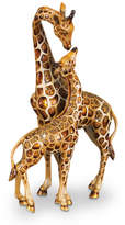 Jay Strongwater Mother & Baby Giraffe Figure
